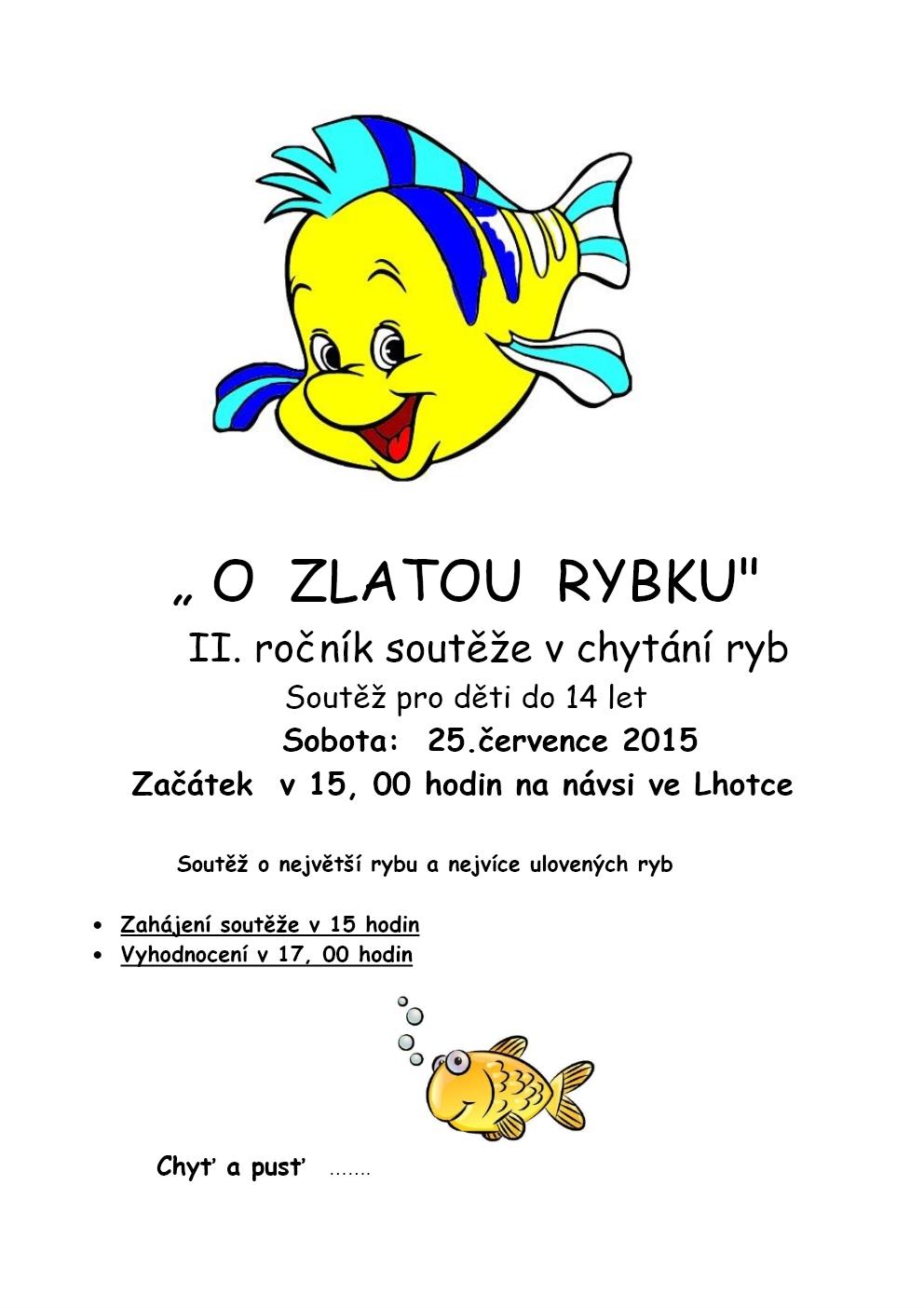 O Zlatou rybku